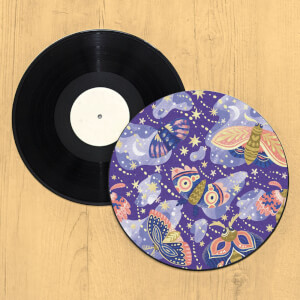 Galaxy Moth Record Player Slip Mat