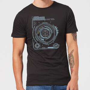 Crystal Maze Futuristic Crystal Men's T-Shirt - Black