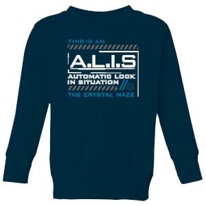 Crystal Maze A.L.I.S. Kids' Sweatshirt - Navy