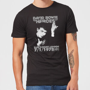 David Bowie Heroes Earls Court Men's T-Shirt - Black