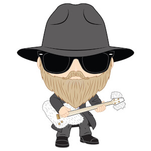 Pop! Rocks ZZ Top Dusty Hill Pop! Vinyl Figure