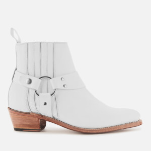 Grenson Women's Marley Leather Heeled Ankle Boots - White