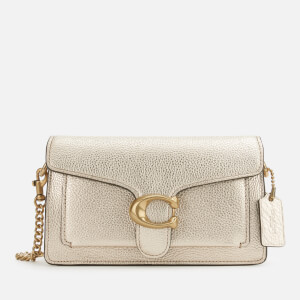 Coach Women's Metallic Leather Tabby Chain Crossbody - Platinum