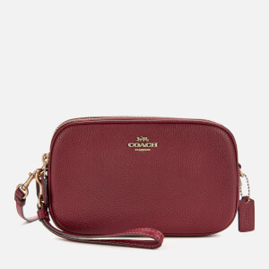 Coach Women's Polished Pebble Leather Sadie Bag - Deep Red