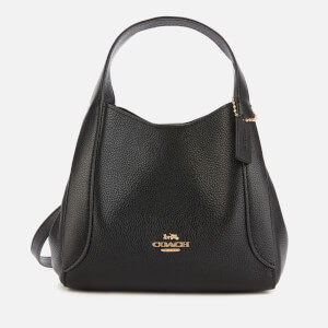 Coach Women's Polished Pebble Leather Hadley Hobo 21 - Black