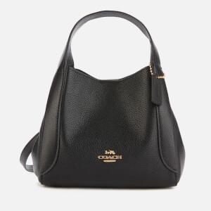 Coach Women's Polished Pebble Leather Hadley Hobo 21 - Black