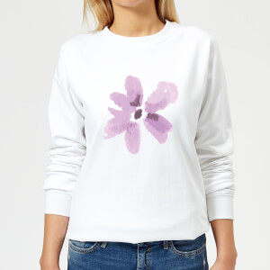 Flower 3 Women's Sweatshirt - White