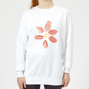 Flower 8 Women's Sweatshirt - White