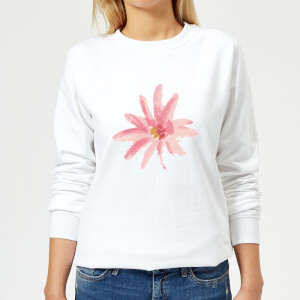 Flower 6 Women's Sweatshirt - White