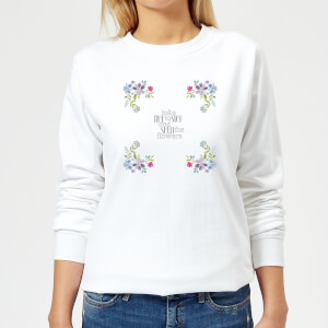 Take Time To Stop And Smell The Flowers Women's Sweatshirt - White