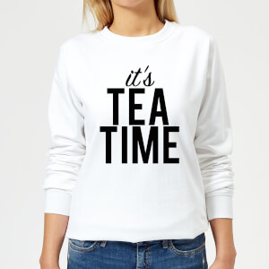 It's Tea Time Women's Sweatshirt - White