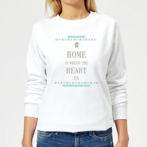 Home Is Where The Heart Is Women's Sweatshirt - White