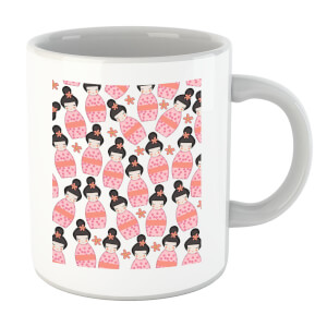 Pink Geisha Scattered Pattern Mug