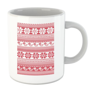 Floral Knitted Pattern Mug