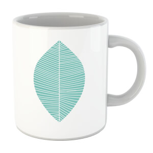 Plain Light Turquoise Leaf Mug