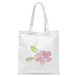 Pink Flower 2 Tote Bag - White