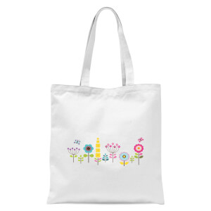 Childish Flowers 1 Tote Bag - White