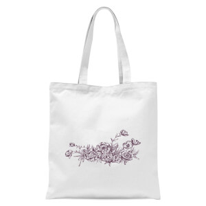 Bunch Of Flowers 4 Tote Bag - White