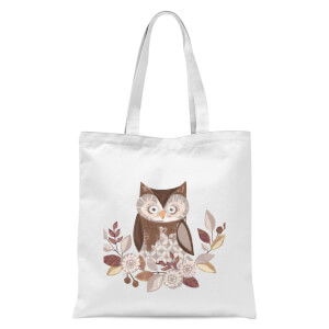 Owl Tote Bag - White