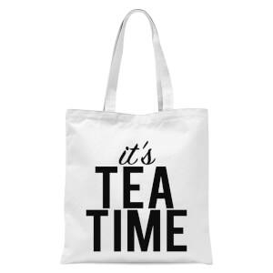 It's Tea Time Tote Bag - White