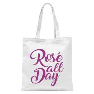 Rose All Day Tote Bag - White