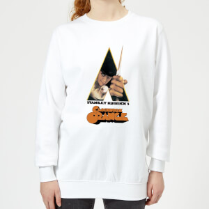 A Clockwork Orange A Clockwork Orange Poster (trim White) Women's Sweatshirt - White