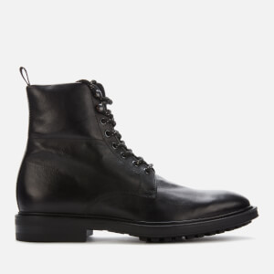 Paul Smith Men's Arno Leather Commando Lace Up Boots - Black