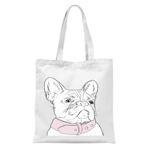 Frenchie Tote Bag - White