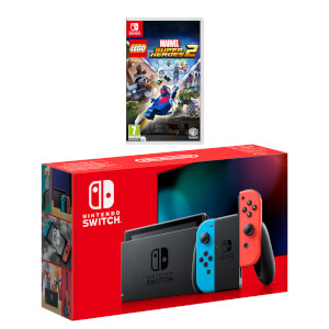 Nintendo Switch (Neon Blue/Neon Red) LEGO Marvel Super Heroes 2 Pack