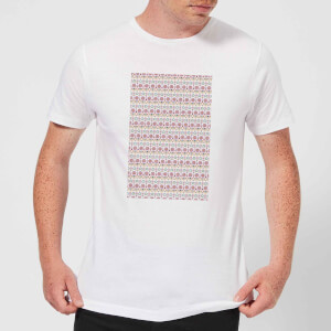 Candlelight Summer Pattern Men's T-Shirt - White