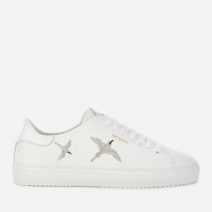 Axel Arigato Women's Clean 90 Bird Leather Cupsole Trainers - White/Silver