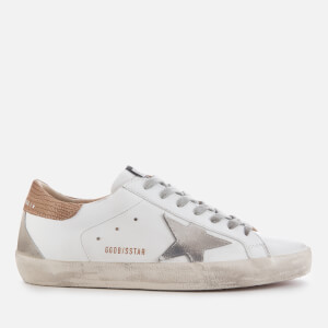 Golden Goose Deluxe Brand Men's Superstar Leather Trainers - White/Light Brown Lizard/Suede Star