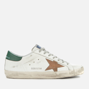 Golden Goose Deluxe Brand Men's Superstar Trainers - White Leather/Nude Suede Star