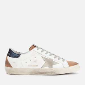 Golden Goose Deluxe Brand Men's Superstar Trainers - White Leather/Nude Suede/Ice Suede Star
