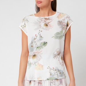 Ted Baker Women's Kcarmaa Woodland Woven Front Top - Ivory