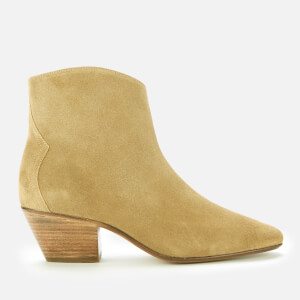 Isabel Marant Women's Dacken Suede Heeled Ankle Boots - Beige