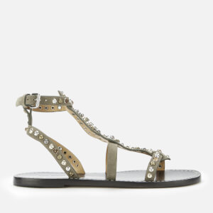Isabel Marant Women's Jenada Suede Flat Sandals - Taupe
