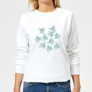 Candlelight Flower Bouquet Burst Women's Sweatshirt - White