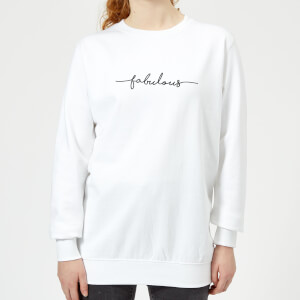 Candlelight Scriptive Fabulous Women's Sweatshirt - White