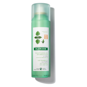 Klorane Dry Shampoo with Nettle with Natural Tint - Oil Control for Dark Hair 3.2 oz