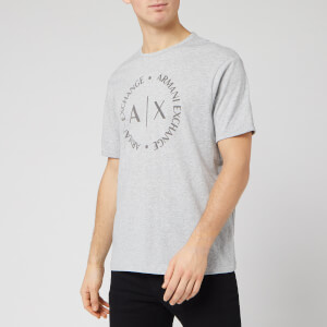 Armani Exchange Men's Circle Logo T-Shirt - Grey