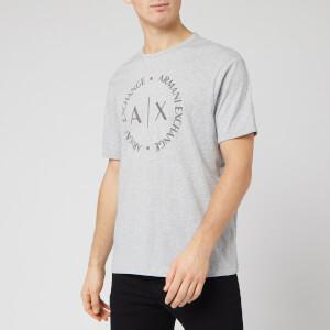 Armani Exchange Men's Circle Logo T-Shirt - Grey