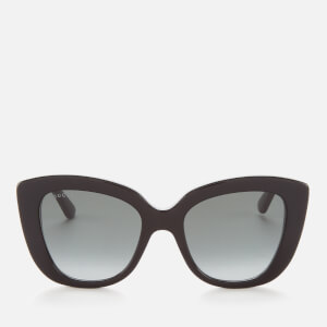 Gucci Women's Cat Eye Acetate Sunglasses - Black/Grey