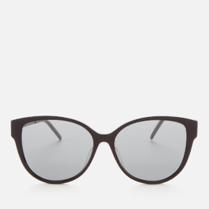 Saint Laurent Women's SLM48S Oversized Acetate Sunglasses - Black/Silver