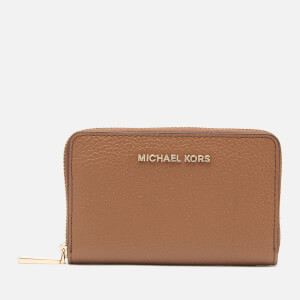 MICHAEL MICHAEL KORS Women's Jet Set Small Zip Around Card Case - Luggage