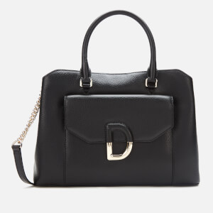 DKNY Women's Von Triple Compartment Satchel - Black/Gold