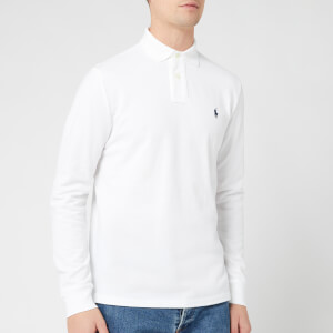 Polo Ralph Lauren Men's Custom Slim Fit Long Sleeve Polo Shirt - White