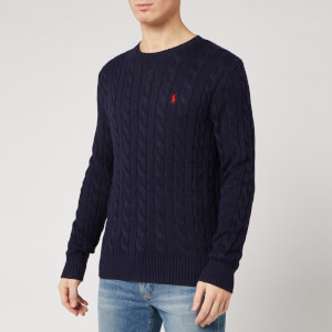 Polo Ralph Lauren Men's Cable Knit Cotton Jumper - Hunter Navy