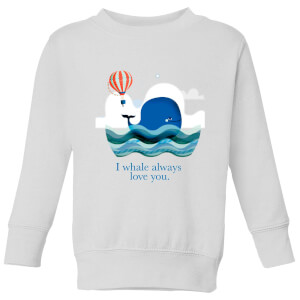 I Whale Always Love You Kids' Sweatshirt - White