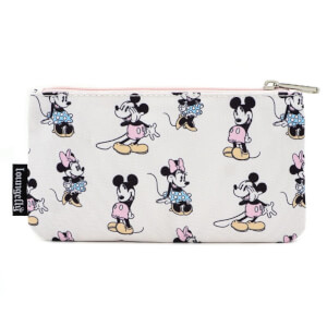 Loungefly Pastel Minnie Mickey AOP Nylon Pouch